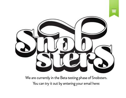 Snobsters Website & Logo