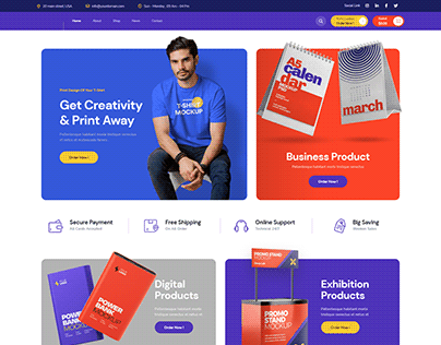Print Shop made by elementor and woocommerce