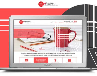 Hrecruit website, mobile and branding