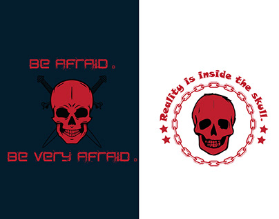 Skull T-Shirts Design.