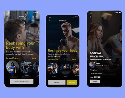 Gym App UI Design