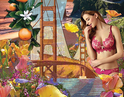 California Wild Flowers Intimate Apparel Design
