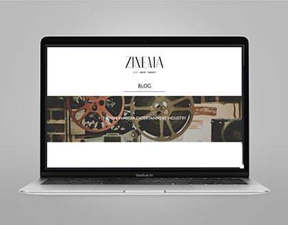 Branding & Web Design - Zinema
