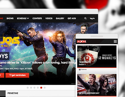 Sony Pictures TV - International Network Site UX / UI