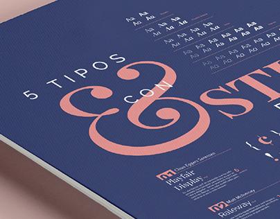 Póster tipográfico | Espécimen Google Fonts