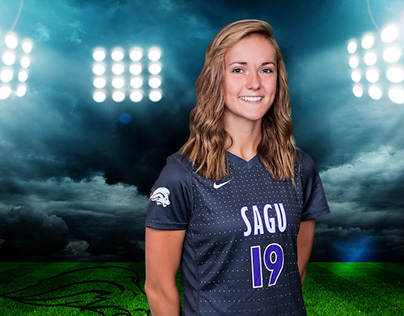 Player Graphics for SAGU Athletics