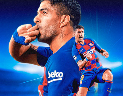 Luis Suárez - FC Barcelona Match Day Poster