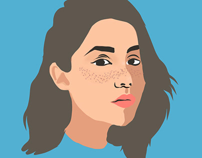 Vector Women Face Images - illustration