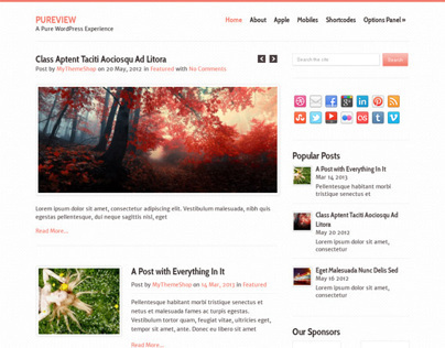 Pureview, WordPress Premium April 2013 Magazine Theme