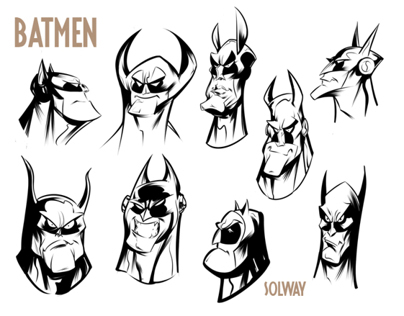 Inked Head Sketches