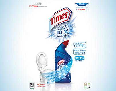 toilet cleaner label design