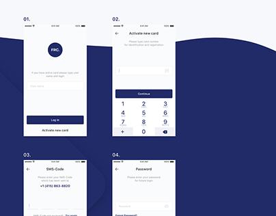 FRC. Bank app redesign