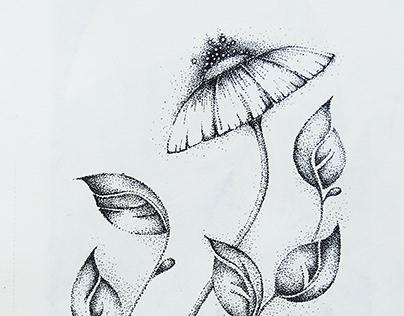 flower - pointillism