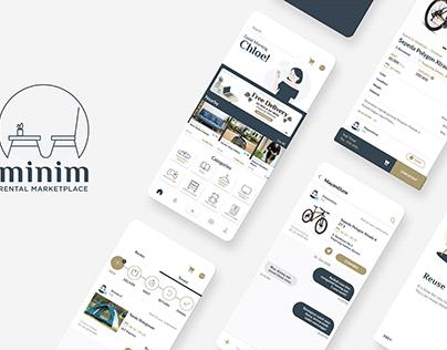 UI / UX for MINIM Rental App