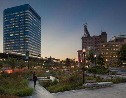 Queens Plaza Dutch Kills Green