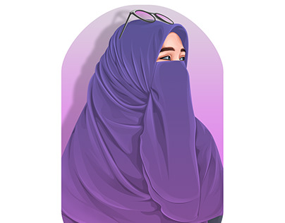 Hijab on vexel