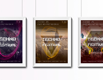 Posters fot music festival