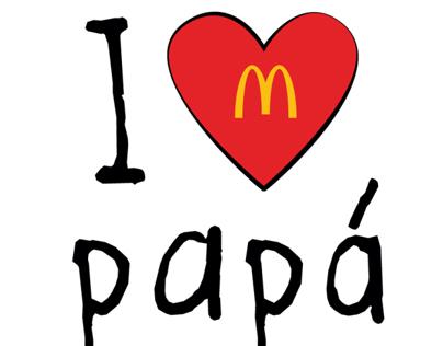 I ♥ papá - Mc Donald's