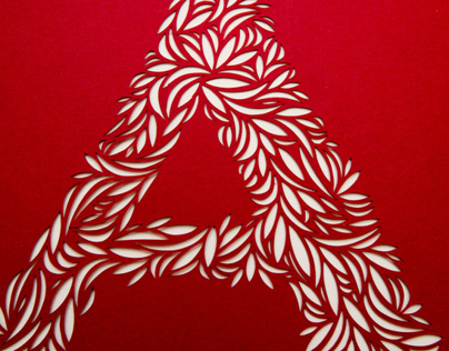 Cut Paper Typography