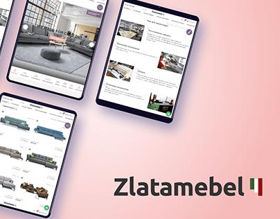 Zlatamebel — redesign of furniture e-store