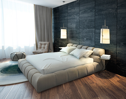 Contemporary bedroom. Kiev