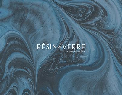Логотип RESIN DE VERRE | Epoxy decor studio