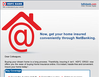 Home Insurance eMailer