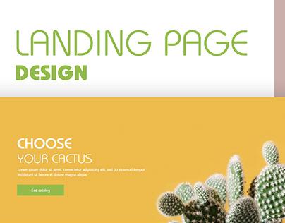 Cactus - online shop. Landing page design