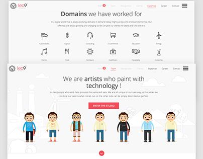 Leo9 Studio - UI/UX | Redesigning