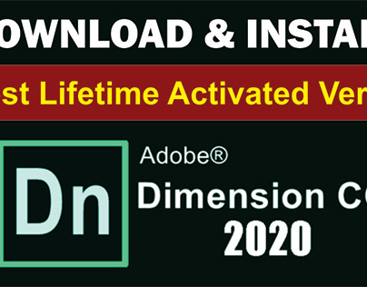 How to Download & Install Adobe Dimension CC 2020