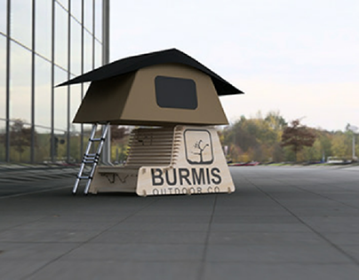 rooftop tent display stand