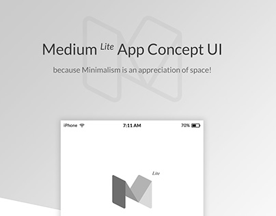 Medium Lite App Concept UI