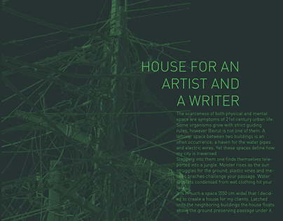 HOUSE FOR AN ARTIST AND A WRITER