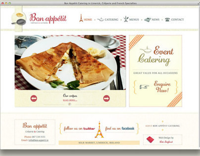 Website Design & Development for Bon Appétit Catering