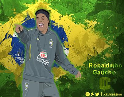 Ronaldinho Gaucho vector (Flag edt.) - The Smile Man