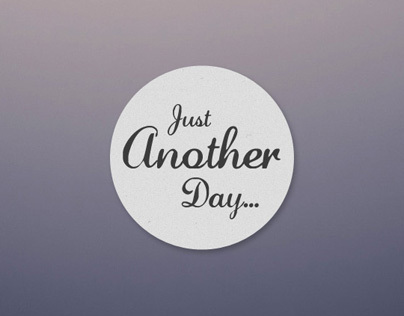 Just Another Day | Landing Page Template