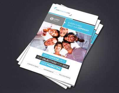 Business Brochure A4 & Letter 12 Pages