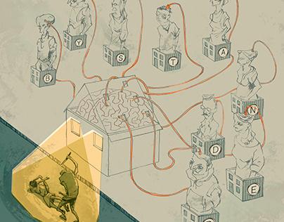 Editorial Illustration: The Bystander Effect