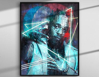 Kendrick Lamar Abstract Digital Painting