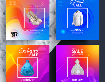 Colorful Social Media Banner Template