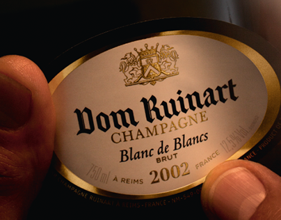 Dom Ruinart. Logo and packaging design.