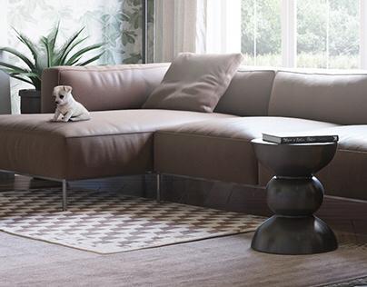 Living room. Apartments in Saint Petersburg, RU