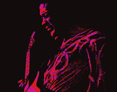 "Hendrix ""Electric Church"" poster design"