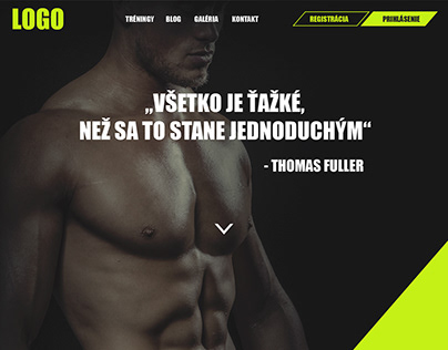 Web design for a fitness coach
