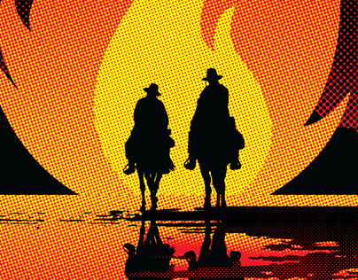 The Sisters Brothers Poster Remastered - Illustration