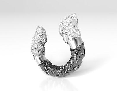 Black&white ring