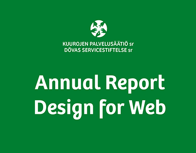 Annual Report for The Service Foundation for the Deaf