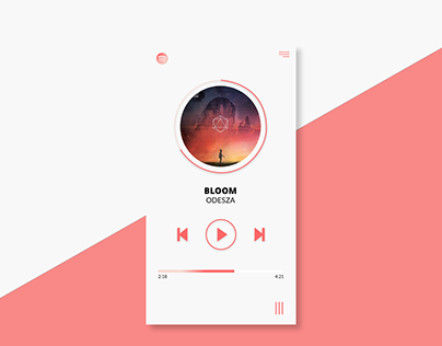 [UI design] Spotikelly - Music Player (10/2017)