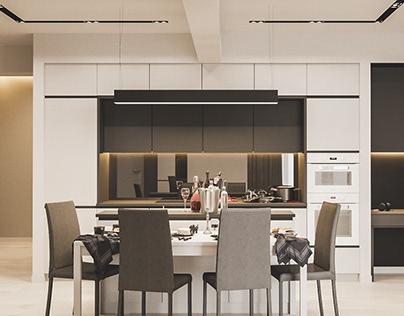 Дизайн интерьера дуплекса 160 кв.м. в Хрустальном Парке