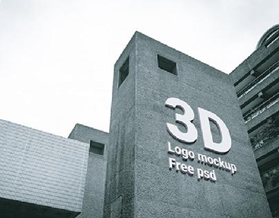 High Quality 3D LOGO mockups (FREE PSD)